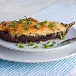 Papoutsakia (Greek stuffed eggplant)